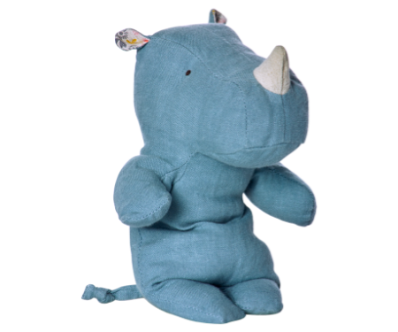 Maileg Little Rhino Blue