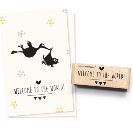 Stempel Typostempel Welcome