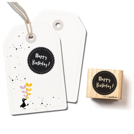 Stempel Typostempel Happy Birthday